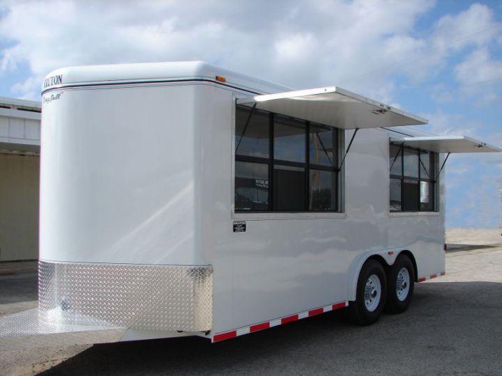 Enclosed Van Concession Trailer - Bumper Pull