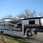 8' X 31' 4 Horse Silver Series Aluminum with 12' Shortwalls